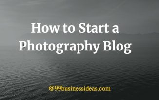 how to start a photography blog