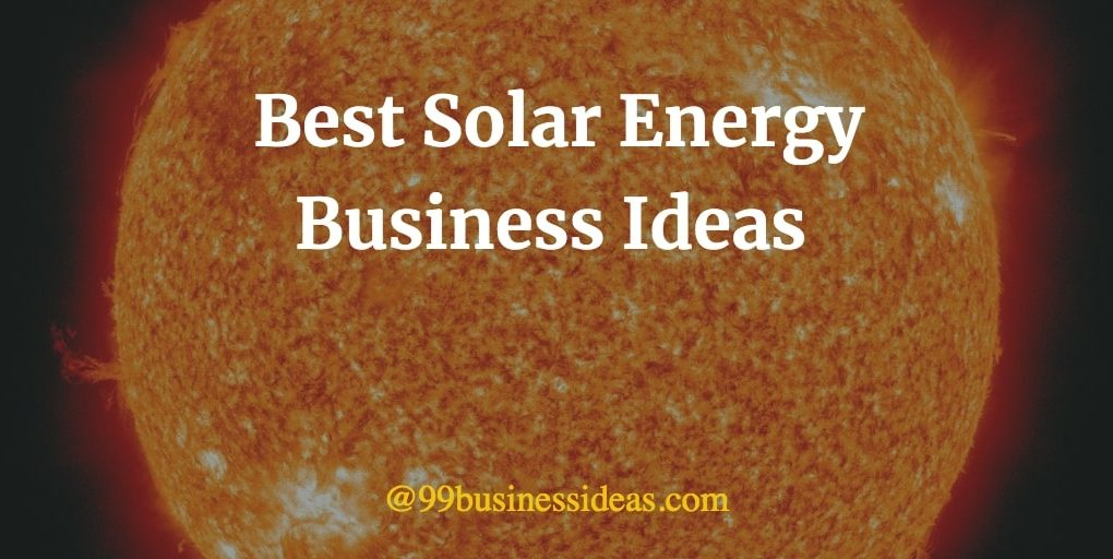 best solar business ideas