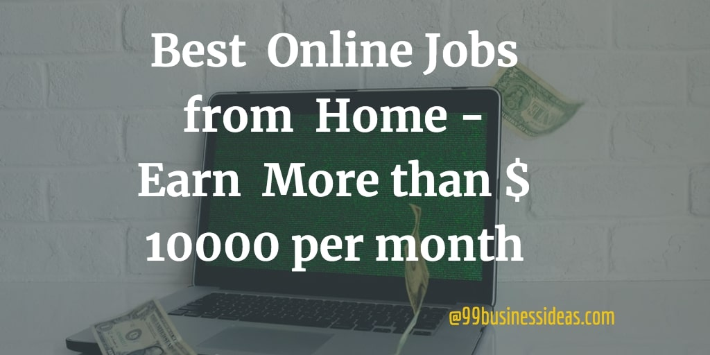 top online jobs from home