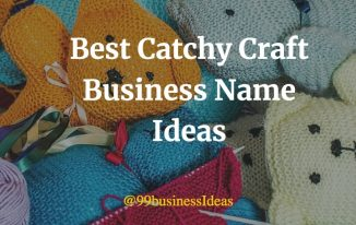 best catchy craft business names