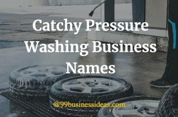 catchy pressure washing business names