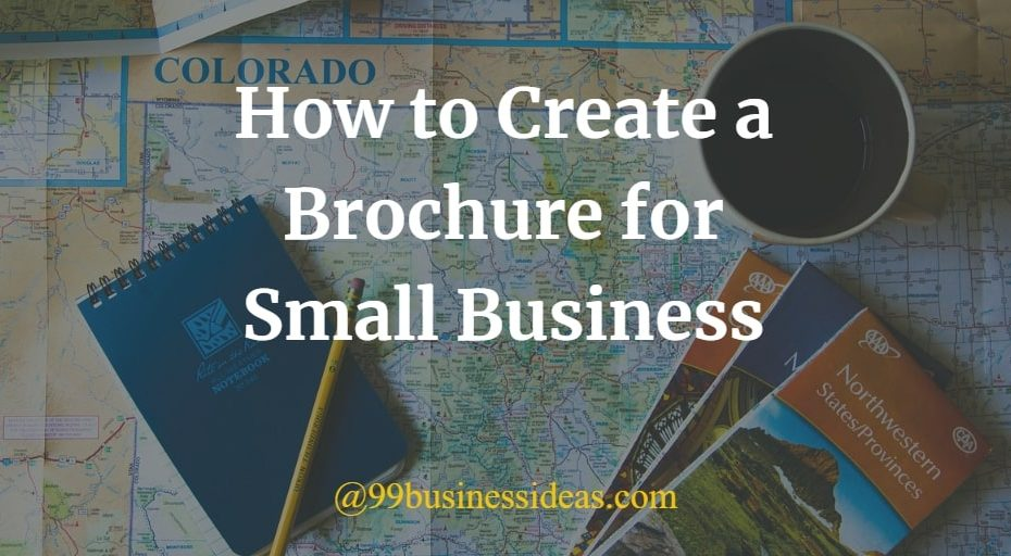 how to create a brochure